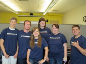 Snow College's newspaper class shows off their pride in their well-produced newspaper.