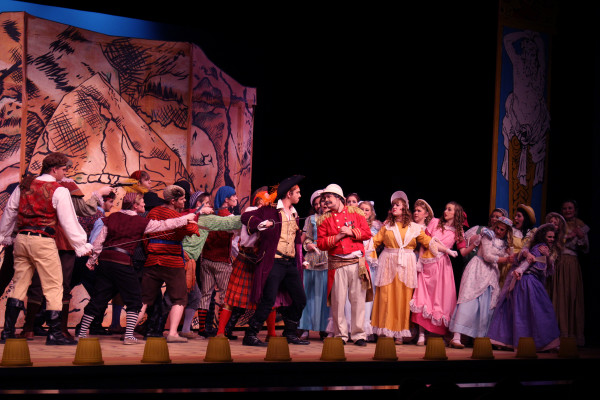 Pirates threaten the Major-General for his daughters' hands in marriage in the production of The Pirates of Penzance. The production turned out to be a success, filling many Ephraim citizens with a night full of laughter. Photo by Taylor Peterson