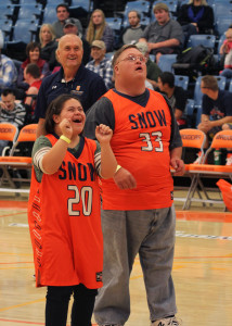 Badger Ballers players show their excitement.  Photo by Tyler Aldous